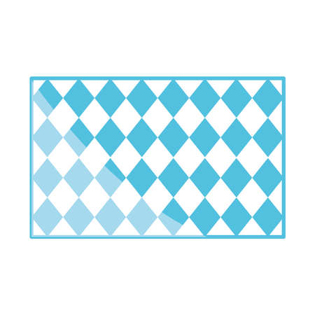 traditional blue checkered pattern shape flat icon design vector illustration
