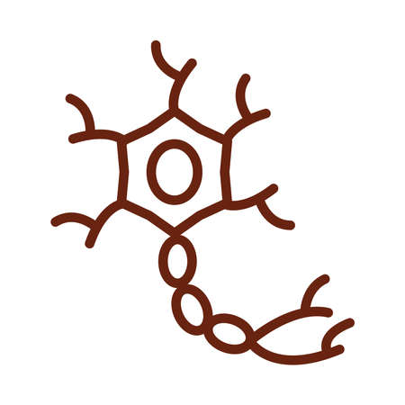 human body cell molecule anatomy organ health line icon style vector illustration