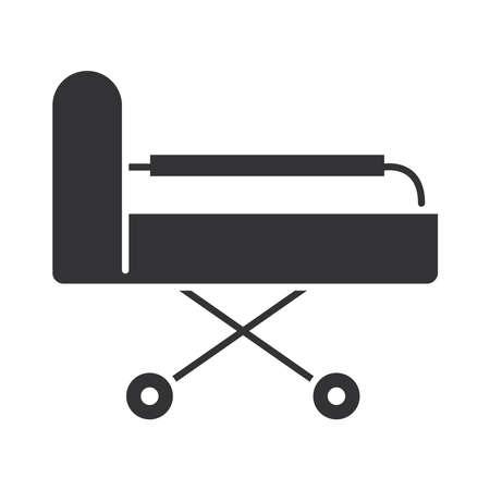 medical stretcher equipment, world disability day, silhouette icon design vector illustration Vector Illustratie