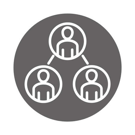 people partnership office, coworking business workspace, block and line icon vector illustration