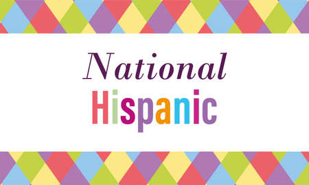 national hispanic heritage month, celebrate annual in united states colored banner vector illustration