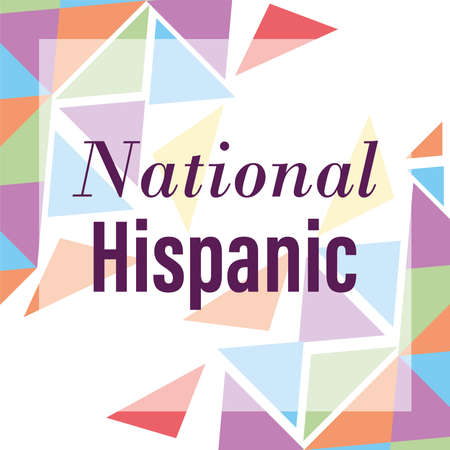 national hispanic heritage month, celebrate annual in united states poster vector illustration