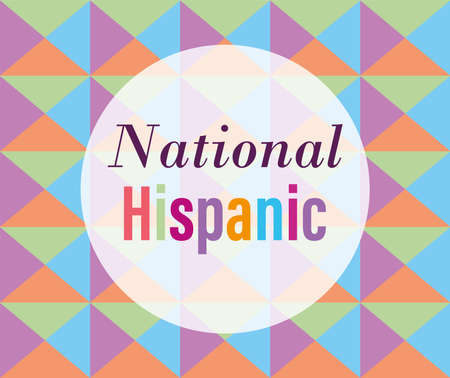 national hispanic heritage month, celebrate annual in united states, geometric decoration pattern vector illustration