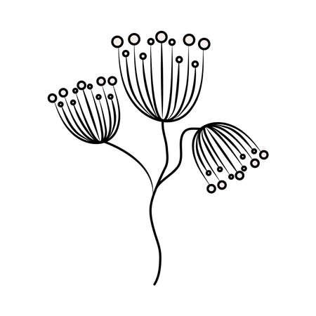 minimalist tattoo flowers delicate floral line art vector illustration