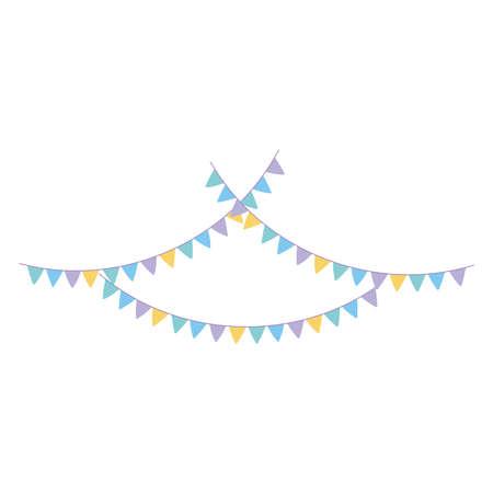 decorative bunting celebration party festival isolated icon vector illustration