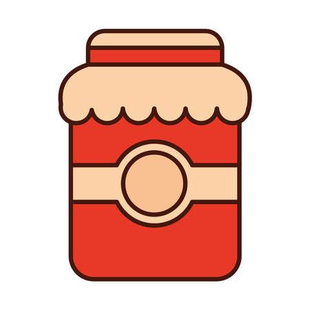 jar jam sweet food preserve fruit vector illustration line and fill icon