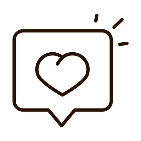 love message speech bubble charity donation line icon vector illustration