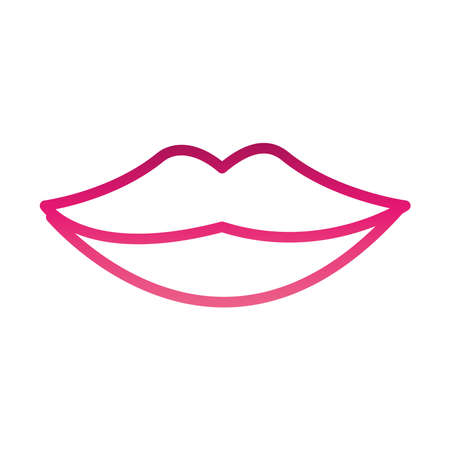 female mouth lips gradient style vector illustration