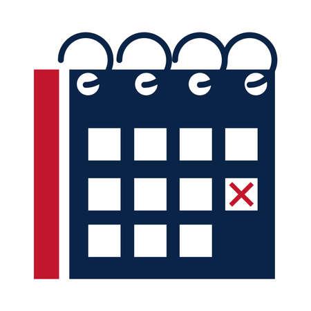 United States elections, reminder calendar marker political election campaign flat icon design vector illustration