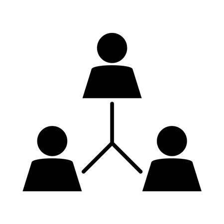 together, company organization teamwork pictogram, silhouette style vector illustration