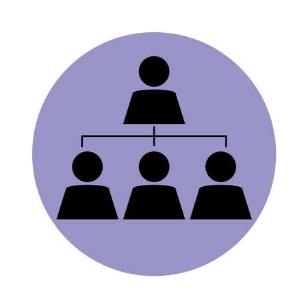 together, business people workgroup pictogram, block silhouette icon vector illustration