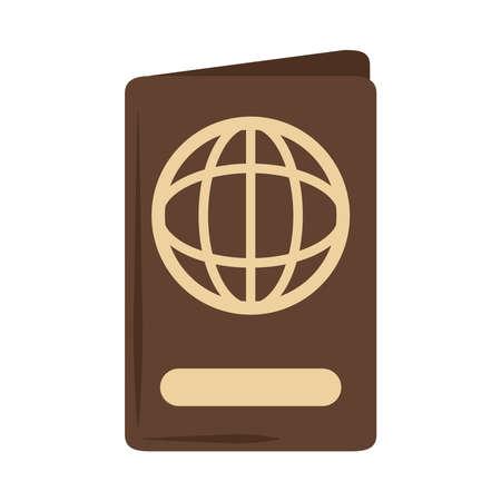 summer vacation travel, passport document id, flat icon style vector illustration