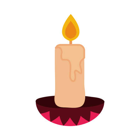 day of the dead, candle in chandelier traditional, mexican celebration icon flat style vector illustration 일러스트