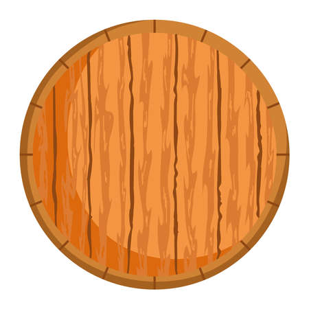 round wood piece isolated icon over white background vector illustration Vettoriali
