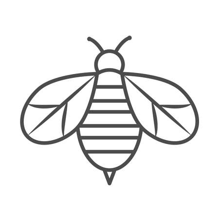 bee insect animal nature cartoon line icon style vector illustration 向量圖像