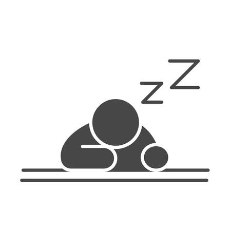 insomnia, upside down character sleep vector illustration silhouette icon style