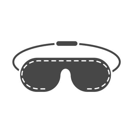 eye sleep mask accessory vector illustration silhouette icon style