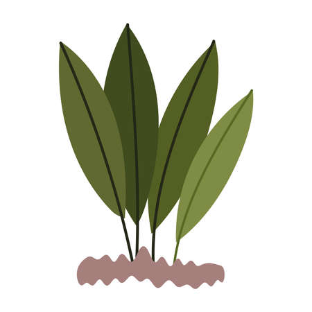 gardening, leaves planting nature isolated icon style vector illustration