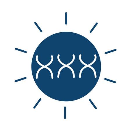 medical dna molecule genetic silhouette icon vector illustration
