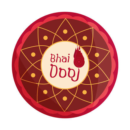 happy bhai dooj, festival culture traditional, celebrated by hindus vector illustration