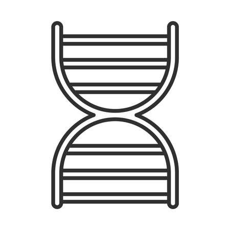 dna molecule genetic science vector illustration line icon