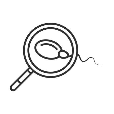 sexual health, analysis sperm vector illustration line icon Illustration