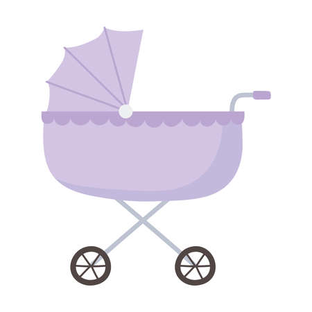baby pram isolated icon style vector illustration 矢量图像