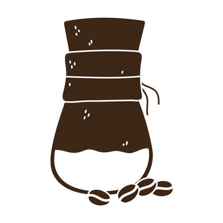 coffee brewing methods with a grains vector illustration silhouette icon style