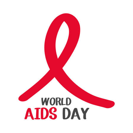world aids day, ribbon awareness icon design for poster vector illustration
