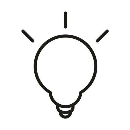 light bulb electricity energy linear style vector illustration
