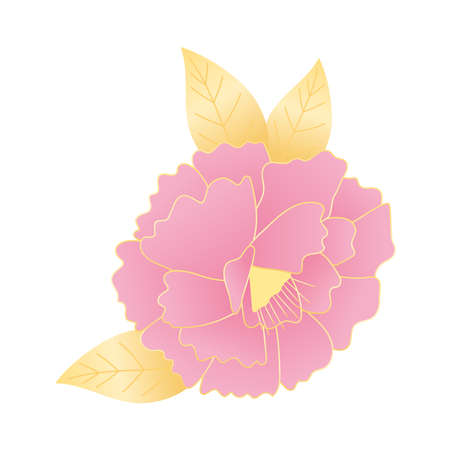 flower leaves nature decoration and ornament icon vector illustration