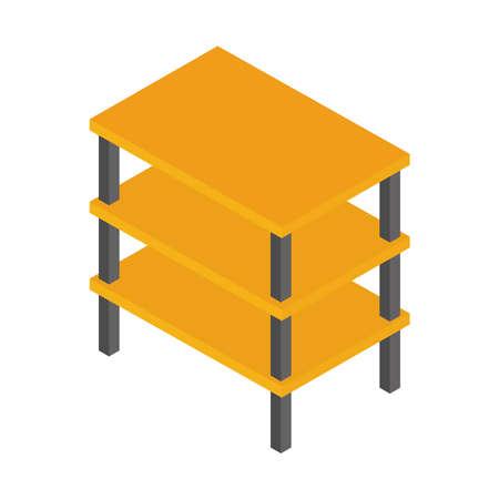 construction empty shelf equipment isometric vector illustration