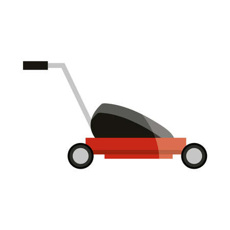mower grass garden icon isolated on white background vector illustration 向量圖像