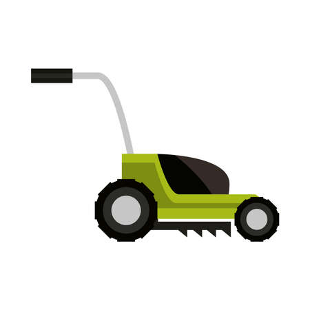 garden lawnmower icon isolated on white background vector illustration