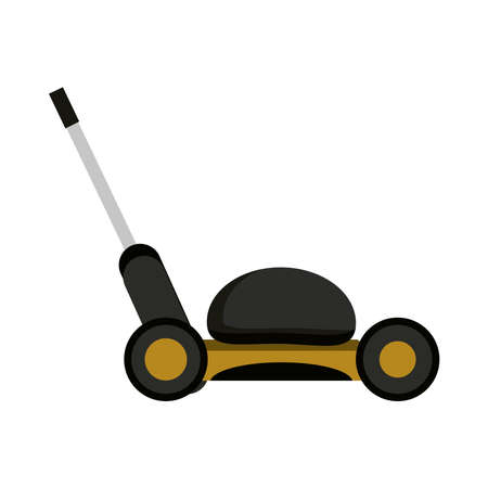 mower grass gardening machine isolated on white background vector illustration