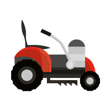 grass cut machine icon isolated on white background vector illustration