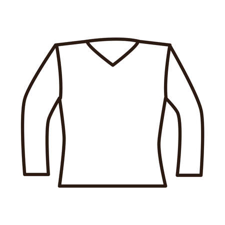 blouse female clothes vector illustration line icon white background 矢量图像