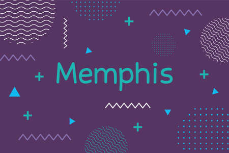 retro style texture memphis 80s 90s style abstract purple background vector illustration