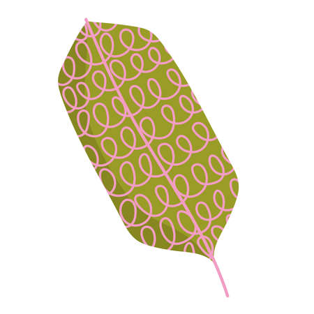 leaf foliage decoration abstract and minimalist style icon on white background vector illustration 向量圖像