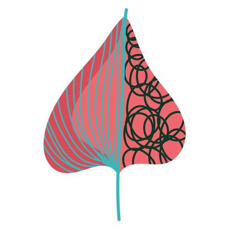 leaf nature foliage decoration minimalist icon on white background vector illustration