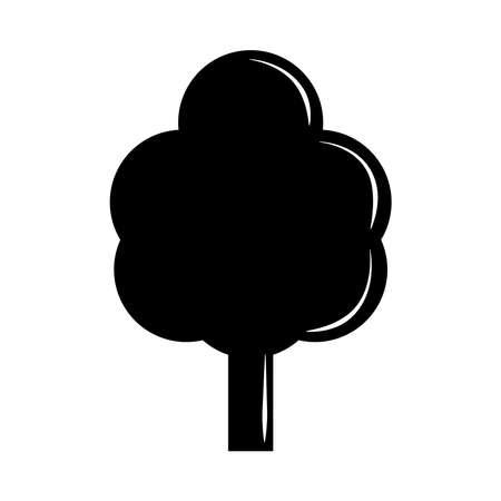 tree nature leafy silhouette icon vector illustration