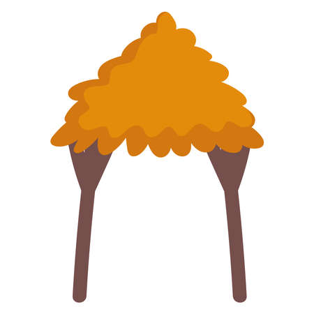 rustic hut cartoon vector illustration icon isolated design 矢量图像