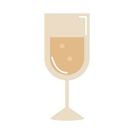 champagne cup drink celebration cartoon vector illustration cartoon flat icon