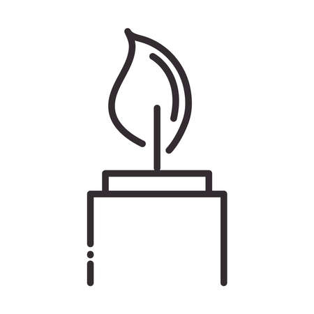 burning candle flame element line icon style vector illustration Illusztráció