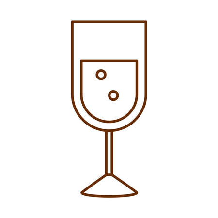 champagne cup drink celebration cartoon vector illustration cartoon line icon
