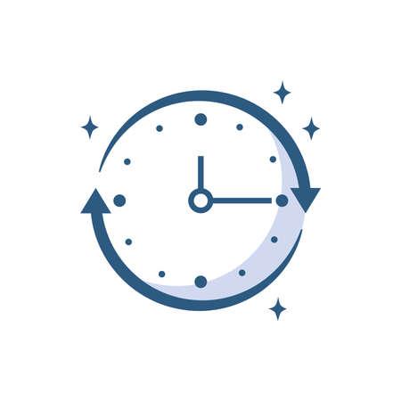 refresh time progress vector illustration line style icon