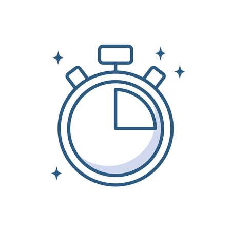 stopwatch clock time device vector illustration line style icon Vektorové ilustrace