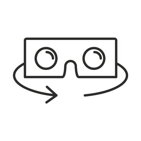 augmented reality glasses wearable technology vector illustration line style
