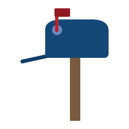 postal service, mailbox courier delivery related vector illustration