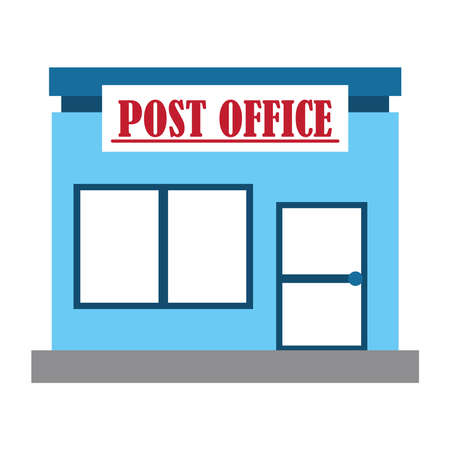 postal service, office courier delivery related vector illustration